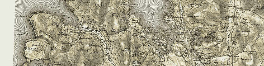 Old map of Leinish in 1909-1911