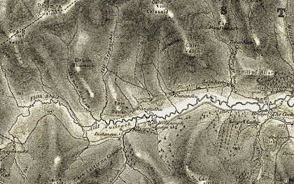 Old map of Allt nan Aighean in 1908