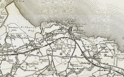 Old map of Dunbar in 1901-1906