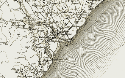 Old map of Dunbeath in 1911-1912