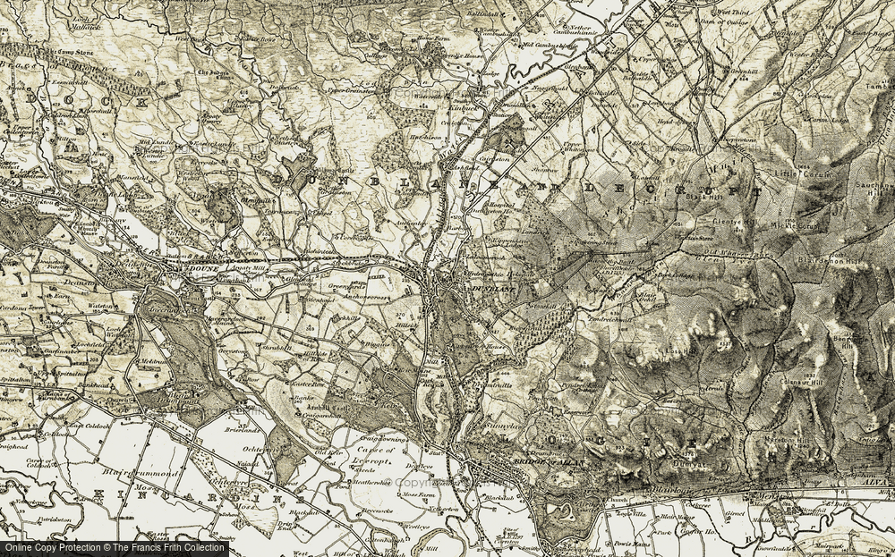 Old Map of Dunblane, 1904-1907 in 1904-1907