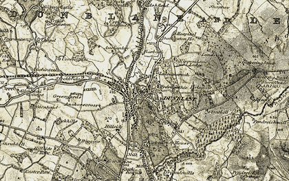 Old map of Dunblane in 1904-1907