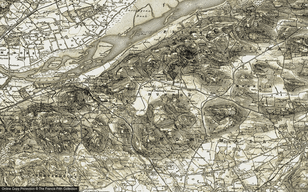 Old Map of Historic Map covering Balmeadow Hill in 1906-1908