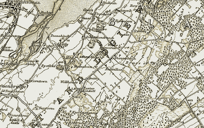 Old map of Balnabeen in 1911-1912
