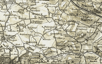 Old map of Whitebrow in 1908-1910