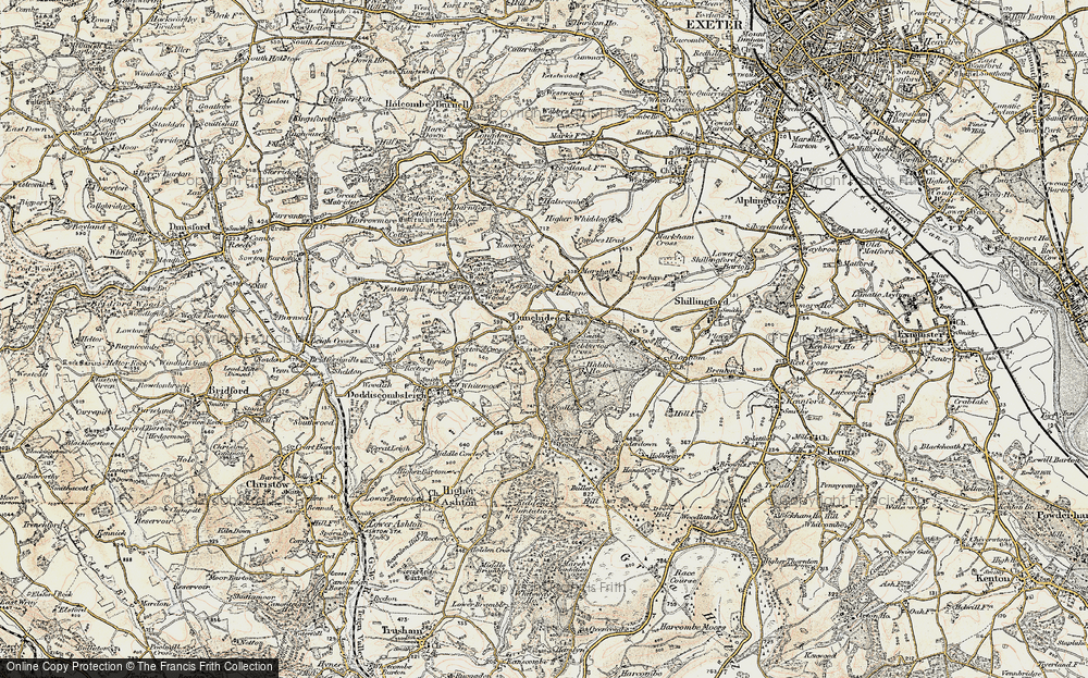Old Map of Historic Map covering Lawrence Castle in 1899-1900