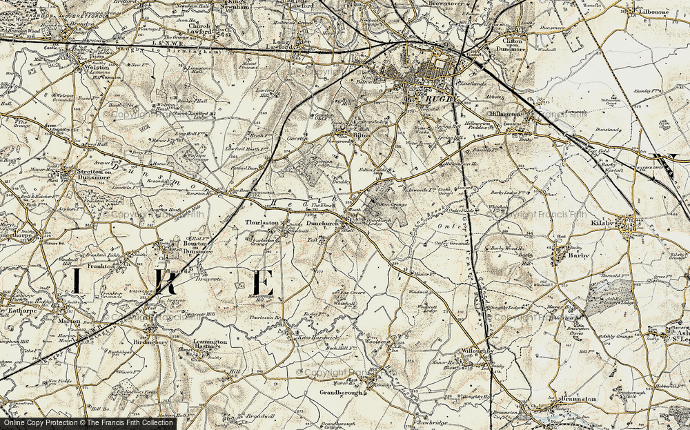 Old Map of Dunchurch, 1901-1902 in 1901-1902