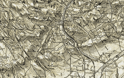 Old map of Langside in 1906-1908