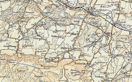 Old map of Duncton in 1897-1900