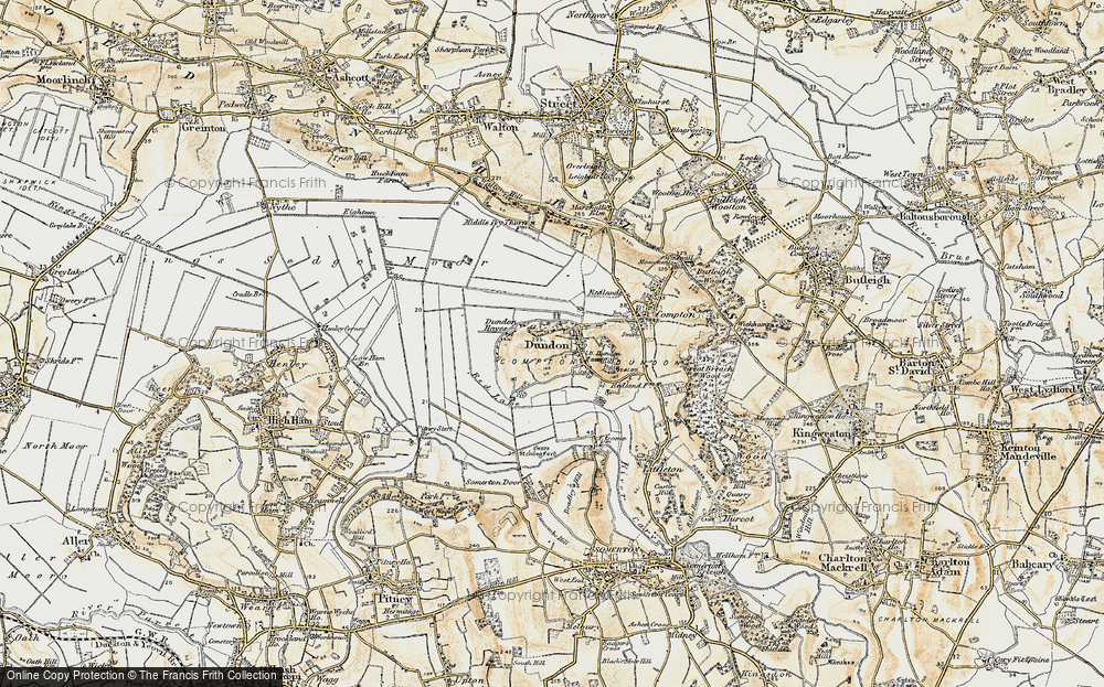 Old Map of Dundon, 1898-1900 in 1898-1900