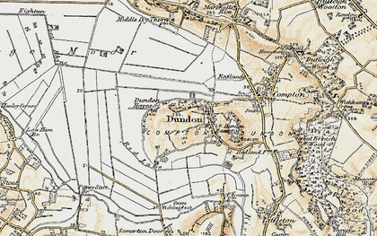 Old map of Dundon in 1898-1900