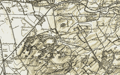 Old map of Auchans in 1905-1906