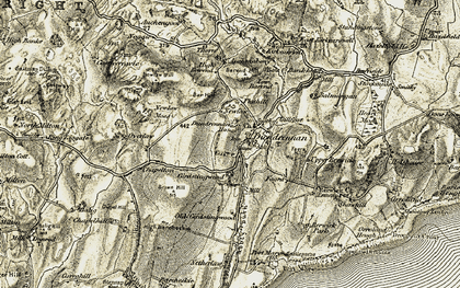 Old map of Auchengool in 1904-1905