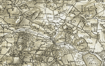 Old map of Tillyfoddie in 1909