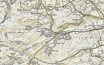 Old map of Winscar Resr in 1903