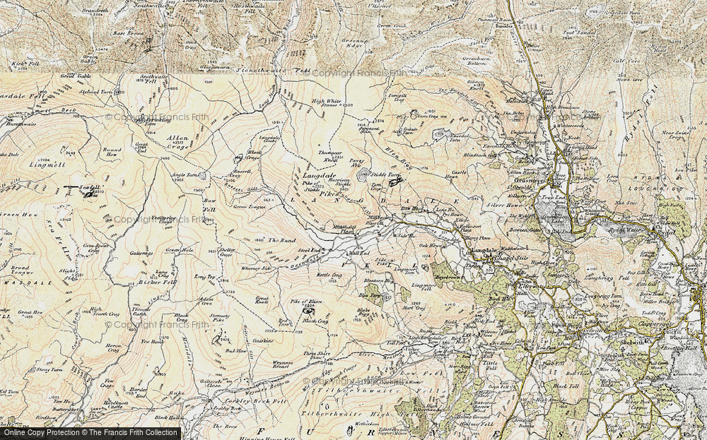 Old Map of Historic Map covering Band, The in 1903-1904