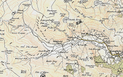 Old map of Wrynose Fell in 1903-1904