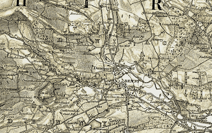 Old map of Wester Barnego in 1904-1907