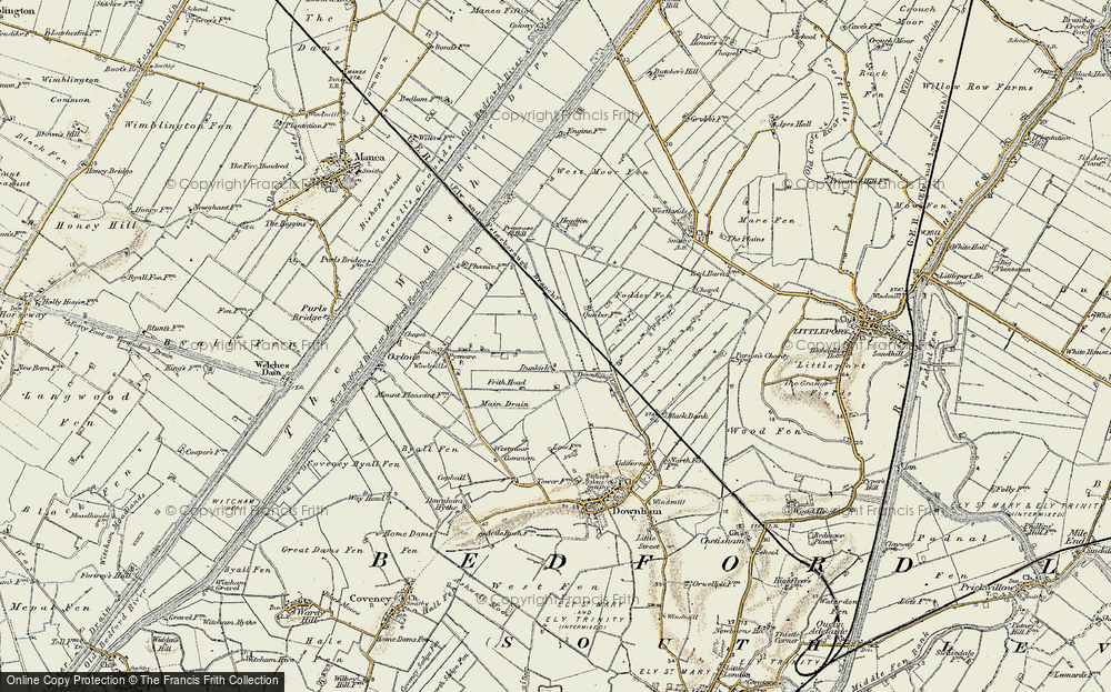 Old Map of Dunkirk, 1901 in 1901