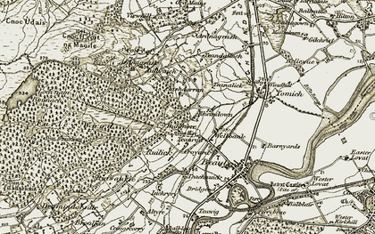 Old map of Dunmore in 1911-1912