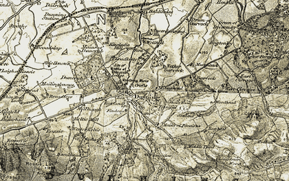 Old map of Leadketty in 1906-1908