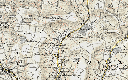 Old map of Limy Water in 1903