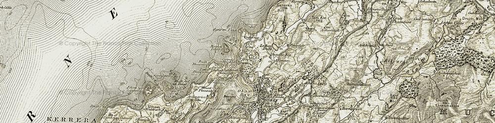 Old map of Ganavan in 1906-1907