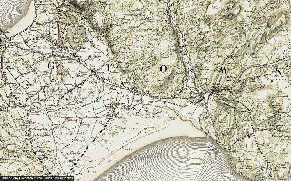 Old Map of Historic Map covering Airyhemming in 1905