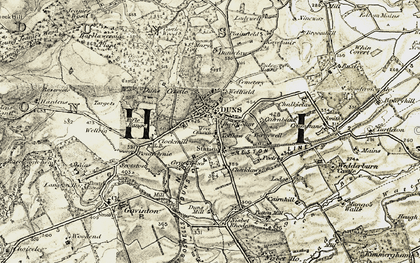 Old map of Langton Burn in 1901-1904