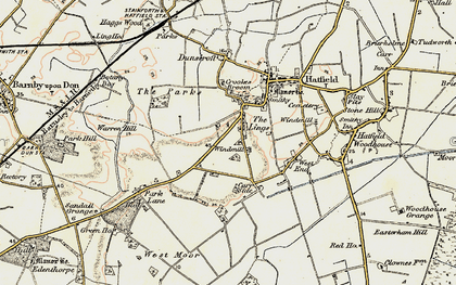 Old map of Lings Windmill in 1903