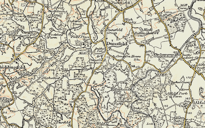 Old map of Dunsfold Common in 1897-1909