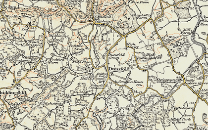 Old map of Dunsfold Green in 1897-1909