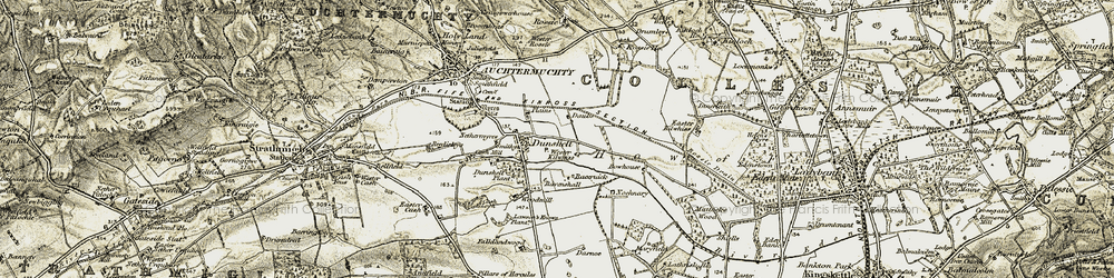 Old map of Wester Rossie in 1906-1908