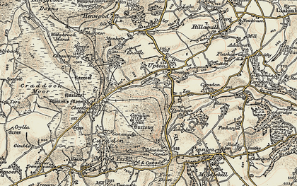 Old map of Dunslea in 1900