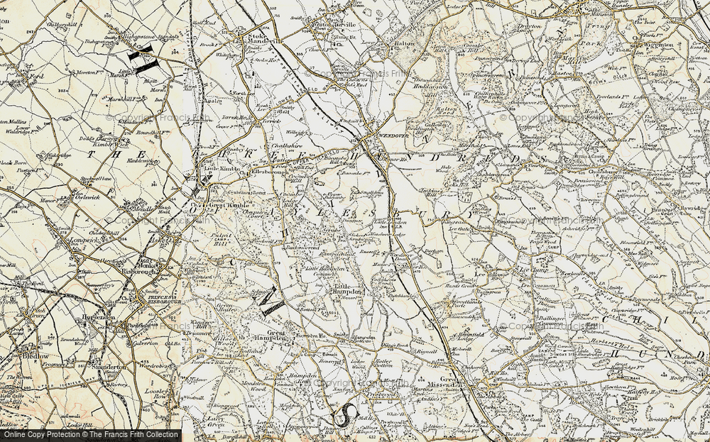 Old Map of Historic Map covering Buckinghamshire in 1897-1898
