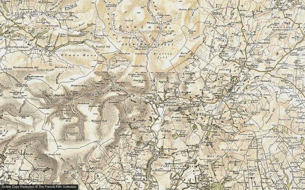 Old Map of Historic Map covering Langden Br in 1903-1904