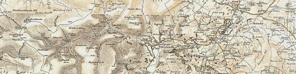 Old map of Dunsop Bridge in 1903-1904