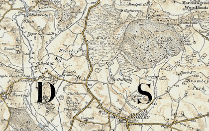Old map of Squitch Ho in 1902