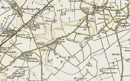 Old map of Wyndthorpe Hall in 1903