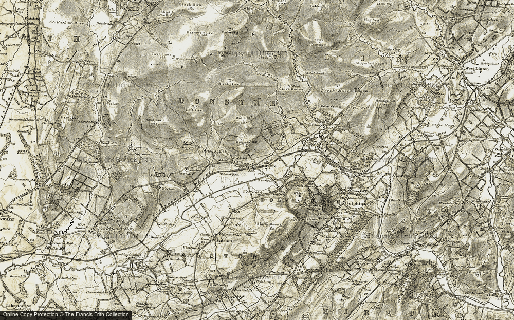 Old Map of Historic Map covering Left Law in 1904-1905