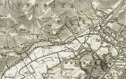 Old map of Anston in 1904-1905