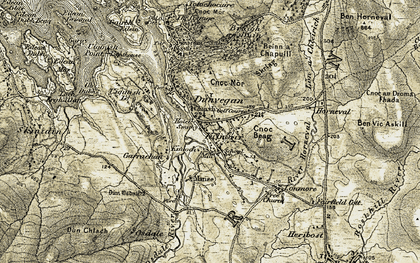 Old map of Dunvegan in 1909-1911