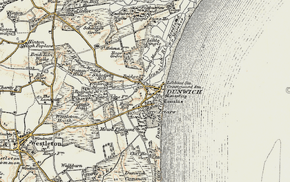 Old map of Dunwich in 1901