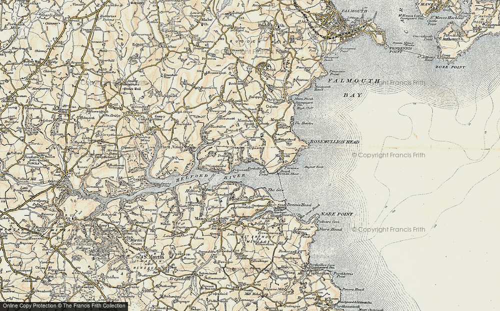 Old Map of Durgan, 1900 in 1900