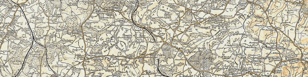 Old map of Durgates in 1898