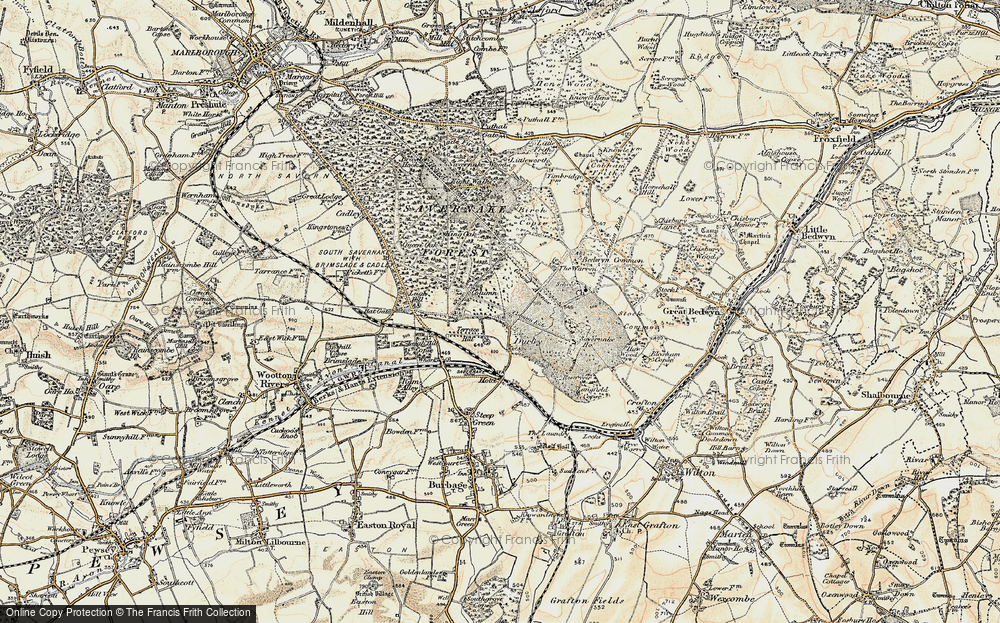 Old Map of Durley, 1897-1899 in 1897-1899