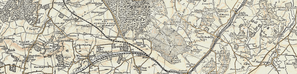 Old map of Durley in 1897-1899