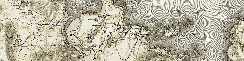 Old map of Leirinbeg in 1910