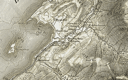 Old map of Duror in 1906-1908