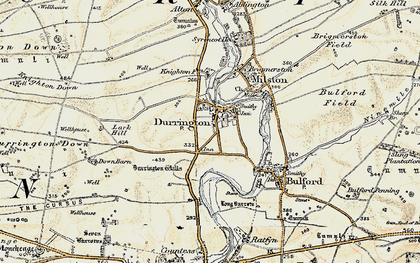 Old map of Woodhenge in 1897-1899
